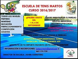 Escuela de Tenis 2016/2017